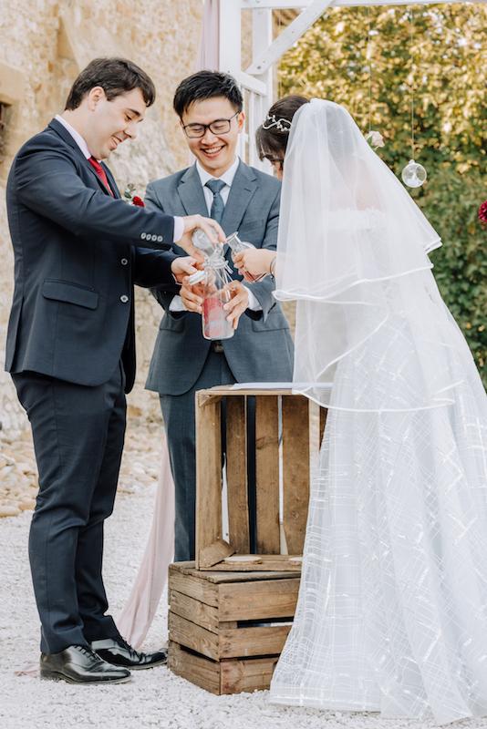 le coeur dans les etoiles - wedding planner - provence - luberon - organisation mariage - mariage automne - nicolas terraes - ceremonie laique - rituel