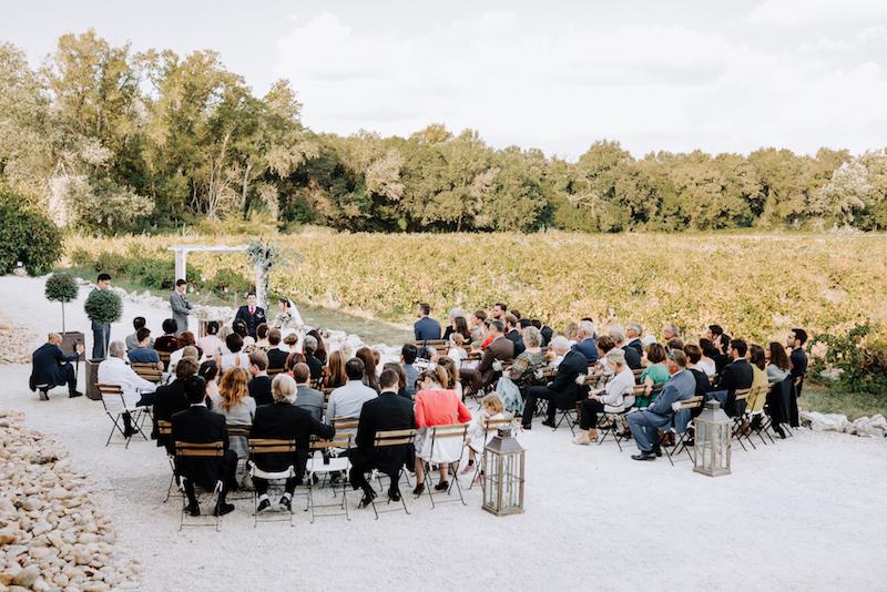 le coeur dans les etoiles - wedding planner - provence - luberon - organisation mariage - mariage automne - nicolas terraes - ceremonie laique - vue ensemble