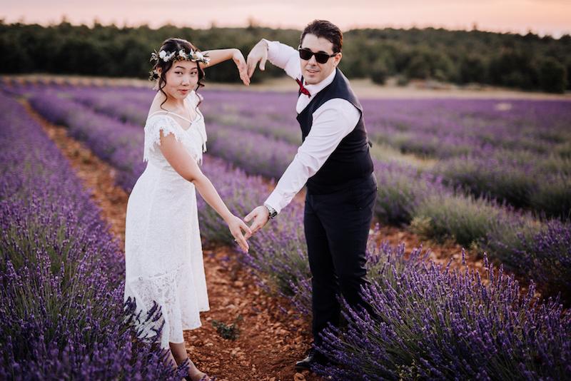 le coeur dans les etoiles - wedding planner - provence - luberon - organisation mariage - mariage automne - nicolas terraes - coeur - champ de lavande