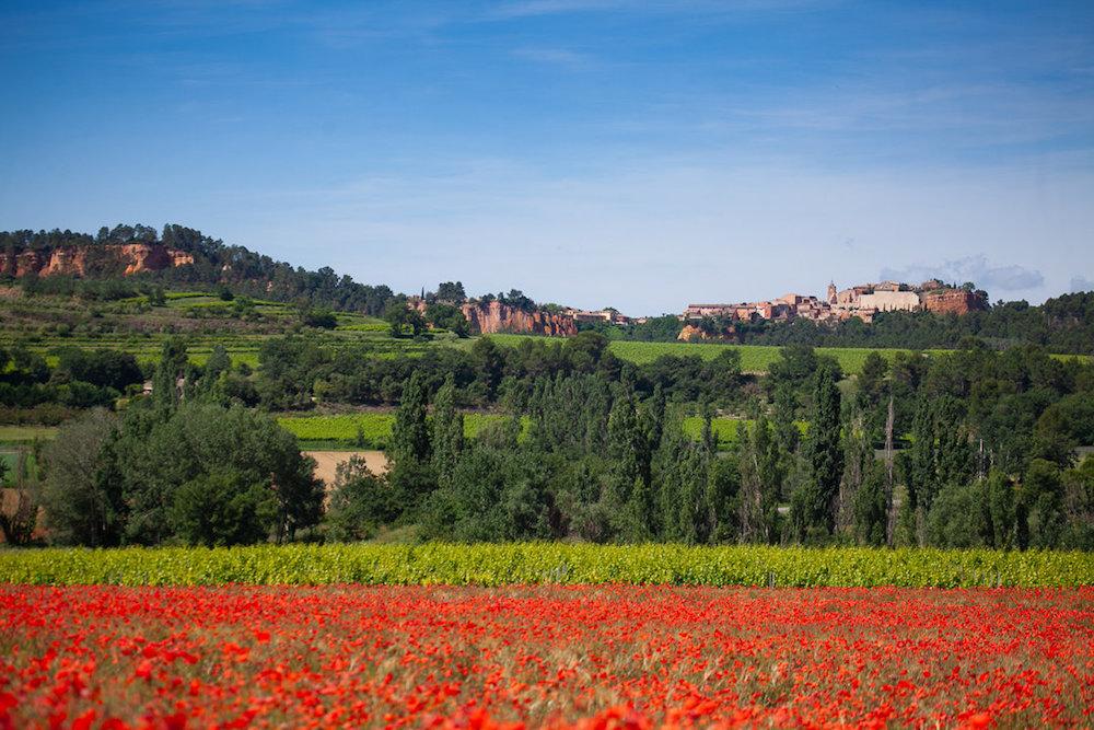 champ de coquelicots, mariage en Provence