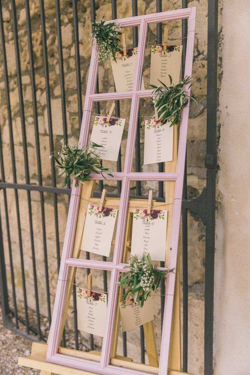 le coeur dans les etoiles - wedding planner provence - luberon - sardaigne - organisation mariage - mariage en provence - sebastien cabanes - plan de table