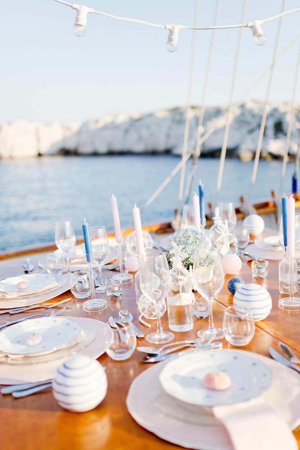 le coeur dans les etoiles - wedding planner - provence - sardaigne - shooting inspiration - mariage voilier - audrey carnoy - deco table 2