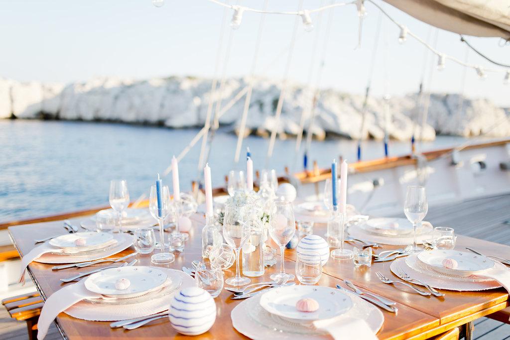 le coeur dans les etoiles - wedding planner - provence - sardaigne - shooting inspiration - mariage voilier - audrey carnoy - deco table 3