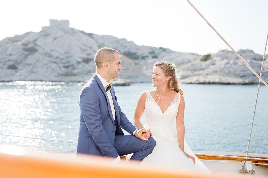 le coeur dans les etoiles - wedding planner - provence - sardaigne - shooting inspiration - mariage voilier - audrey carnoy - photo couple 1