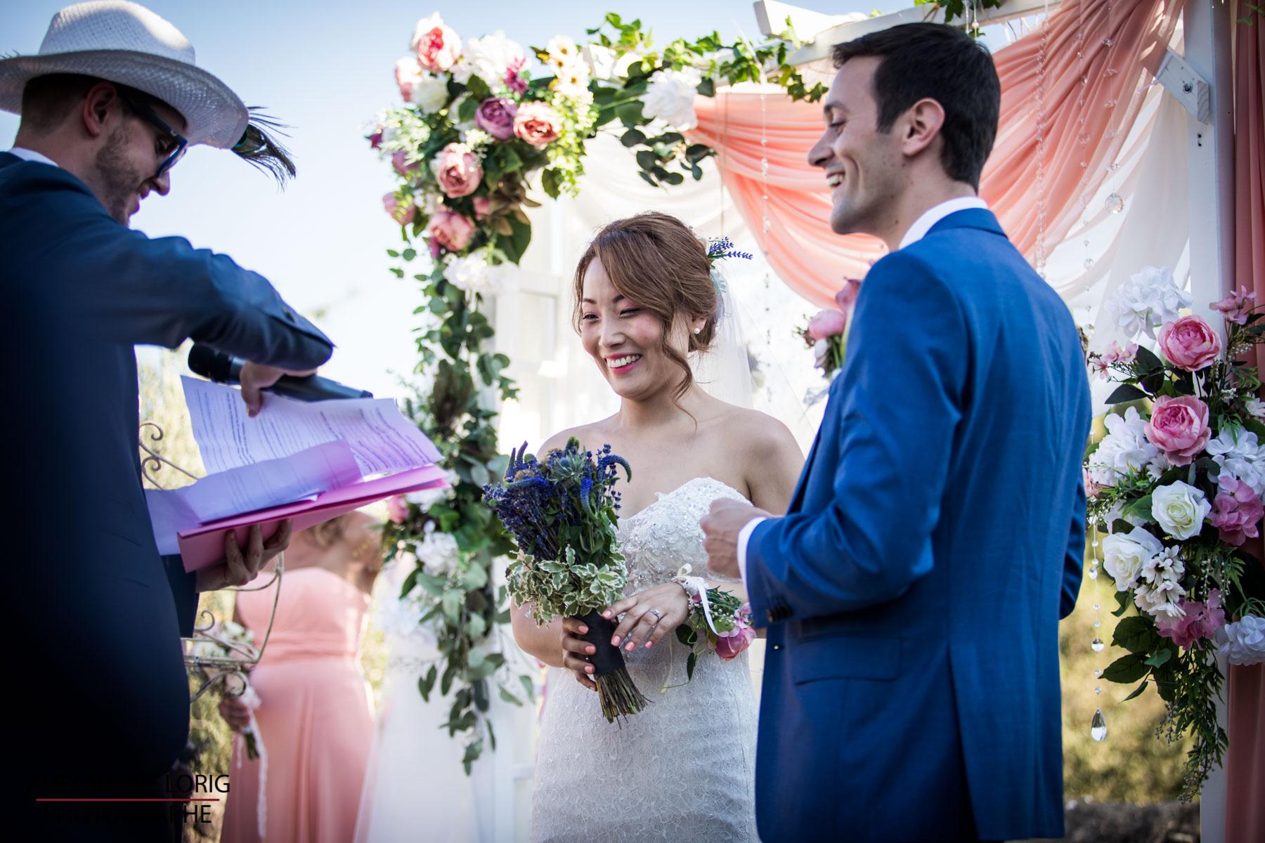 le coeur dans les etoiles - wedding planner provence - luberon - sardaigne - mariage provence - Alexandre Lorig - ceremonie laique - offiant - ami
