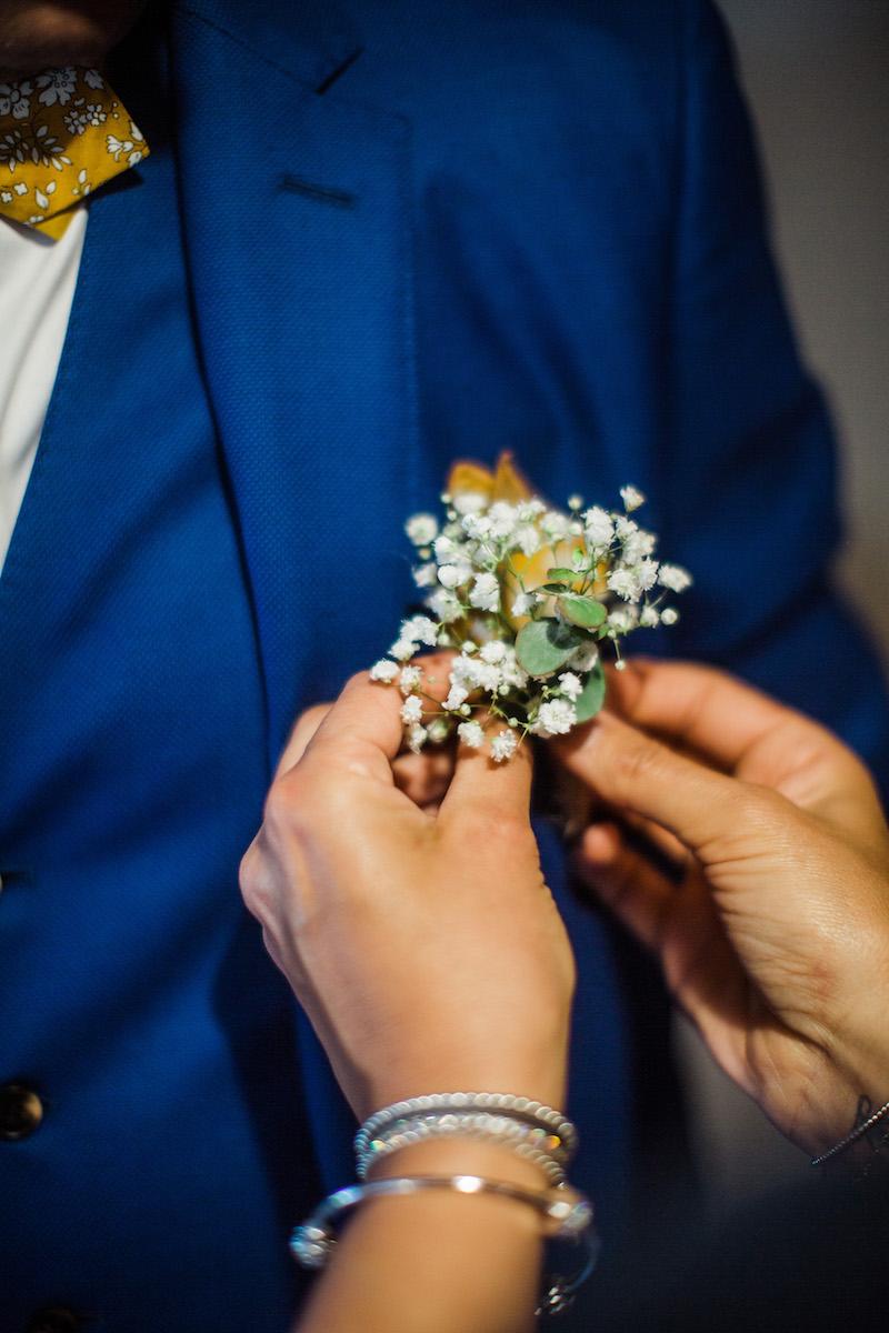 le coeur dans les etoiles - wedding planner - sardaigne - provence - luberon - mariage - organisation - antonio patta - boutonniere marie