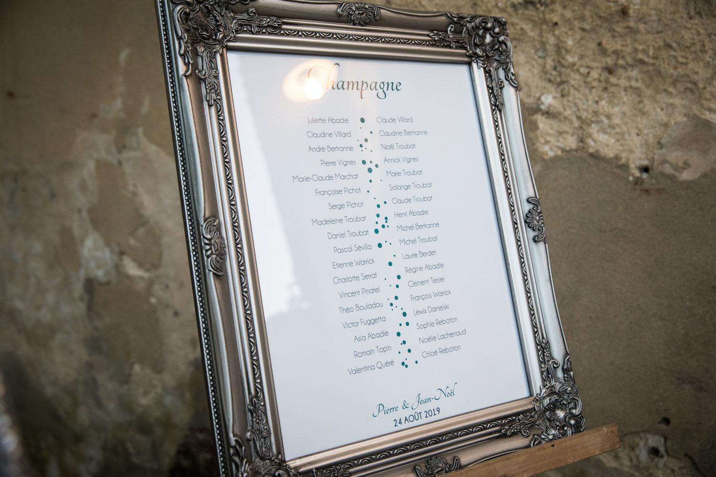 le coeur dans les etoiles - corine charbonnel -wedding planner - provence - luberon - alpilles - organisation - mariage - wedding - alexandre lorig - plan de table