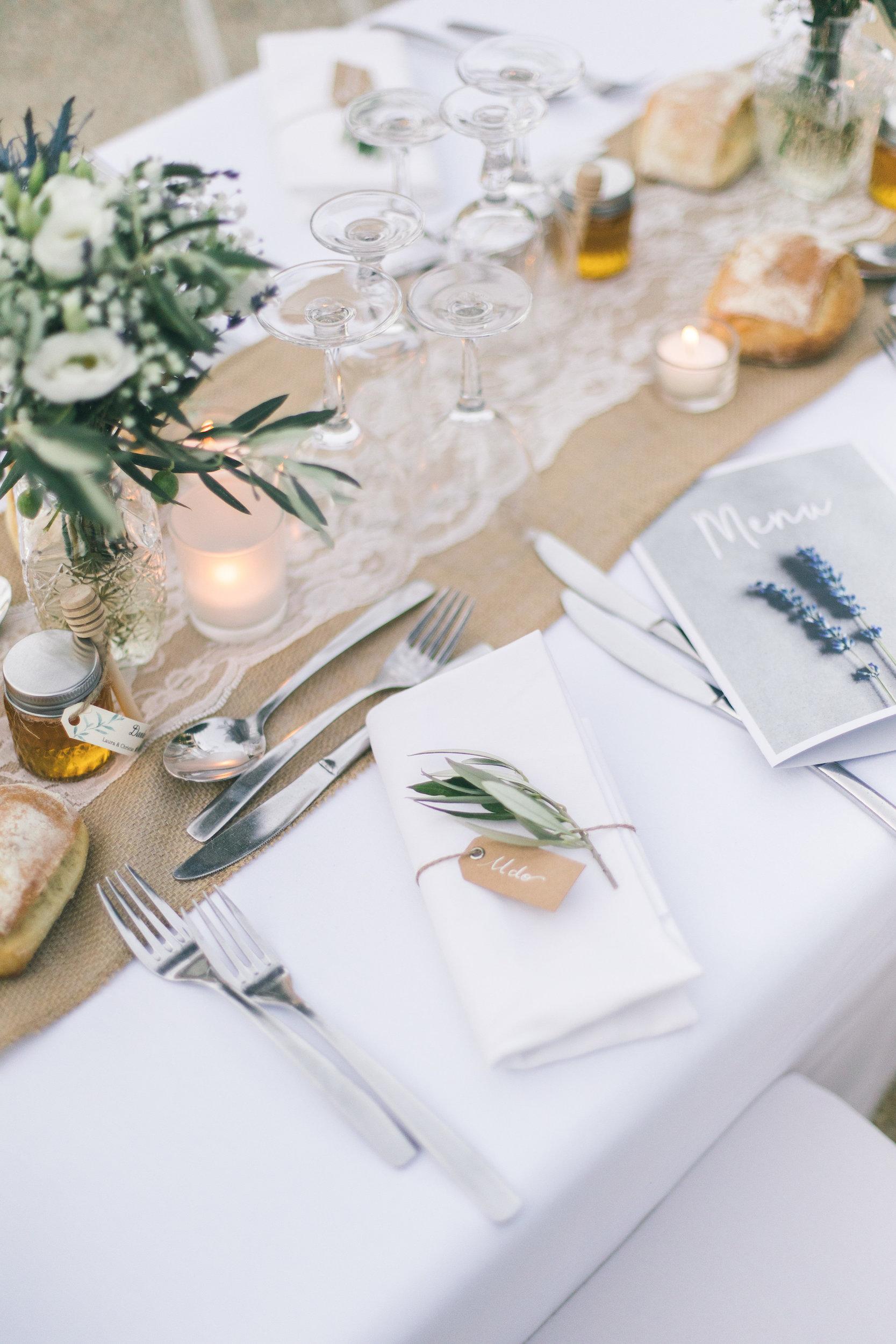 le coeur dans les etoiles - wedding planner - gard - provence - mariage provence - L&C - sebastien cabanes - decoration serviette