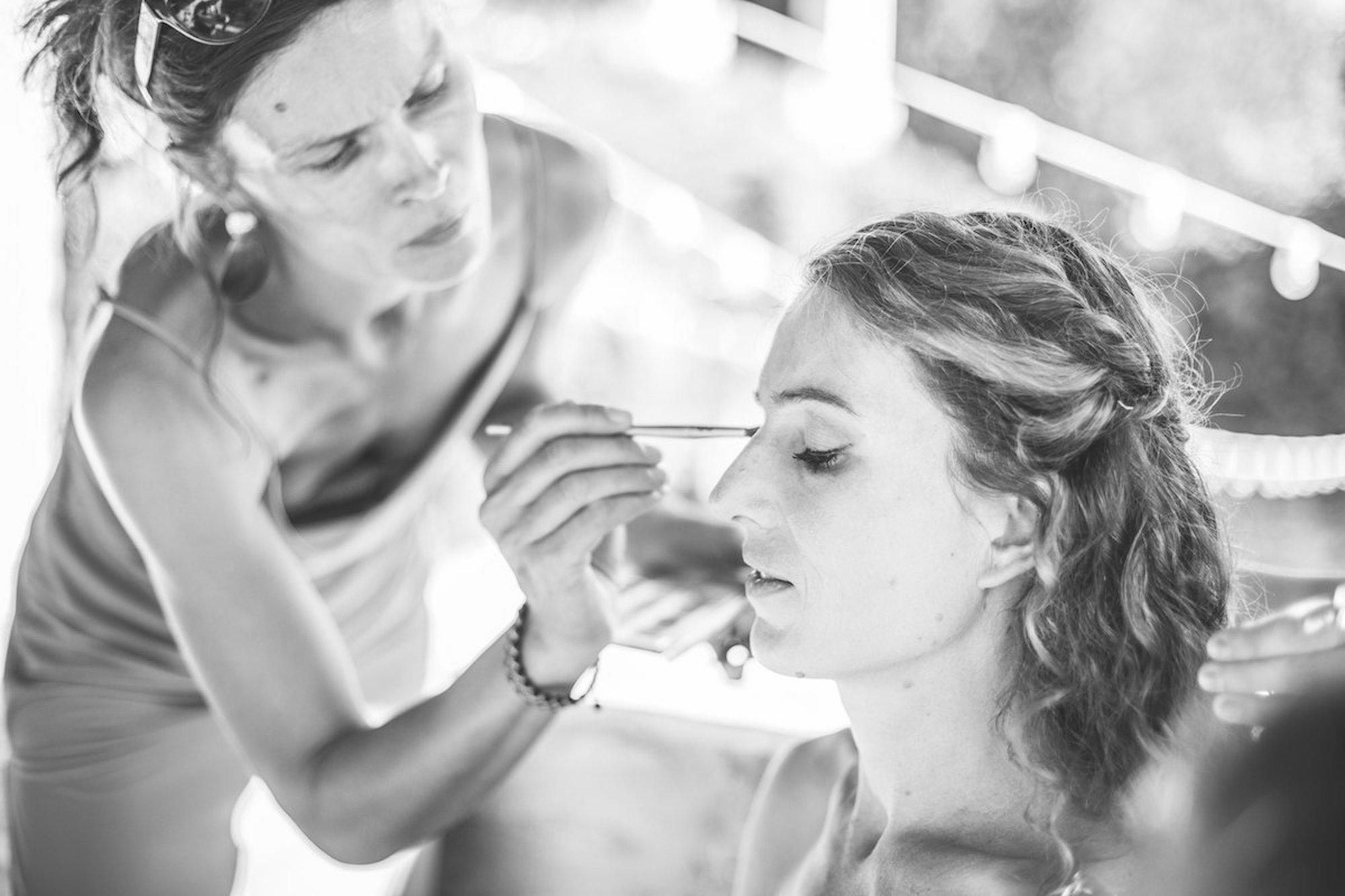 le coeur dans les etoiles - wedding planner - gard - provence - mariage provence - L&C - sebastien cabanes - make up mariee