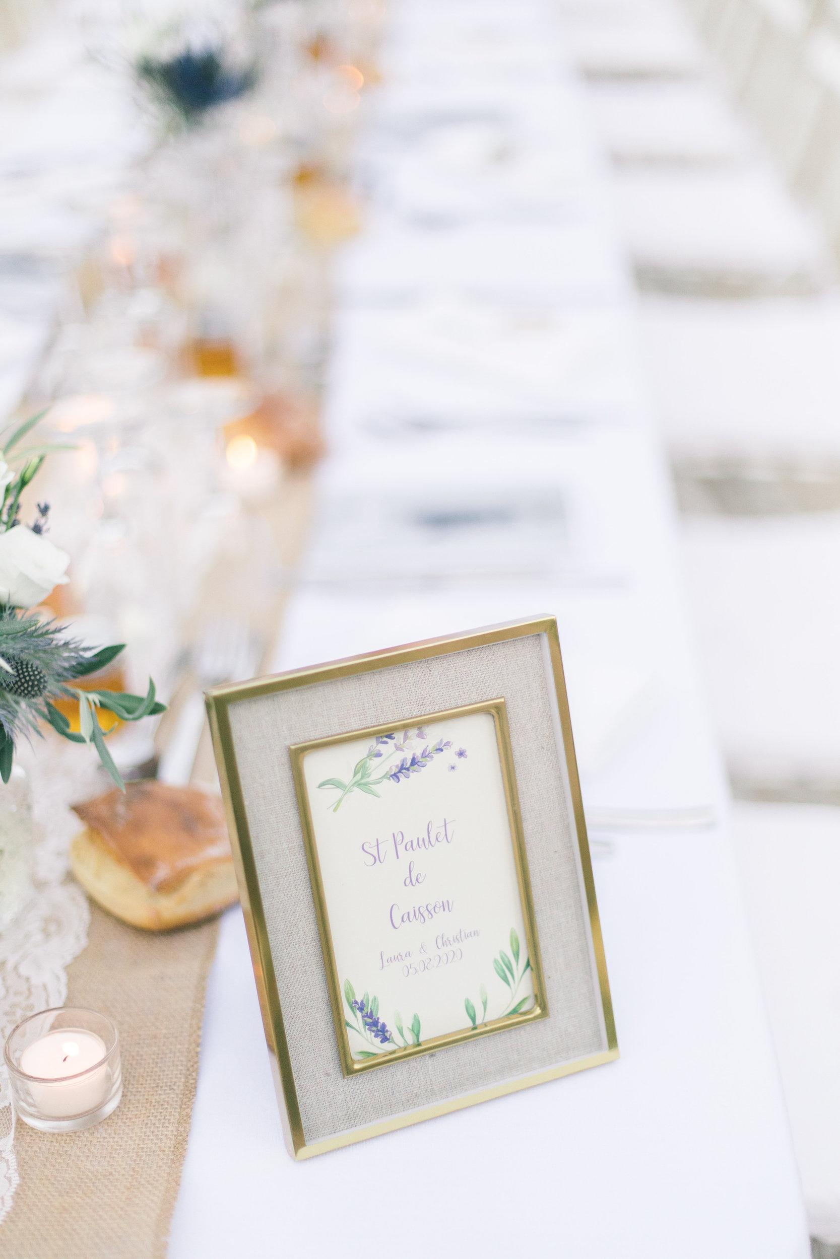 le coeur dans les etoiles - wedding planner - gard - provence - mariage provence - L&C - sebastien cabanes - nom de table