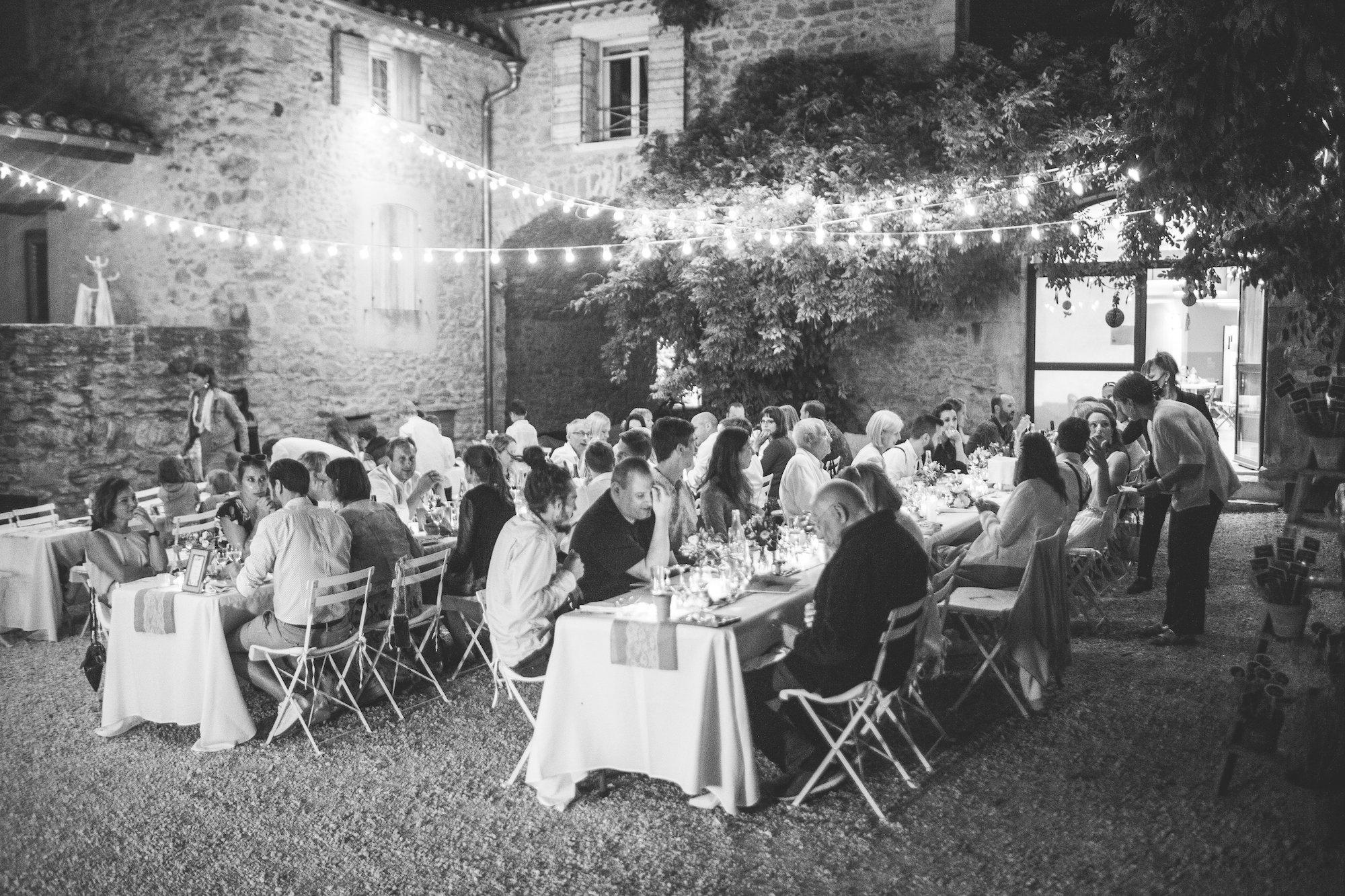 le coeur dans les etoiles - wedding planner - gard - provence - mariage provence - L&C - sebastien cabanes - repas