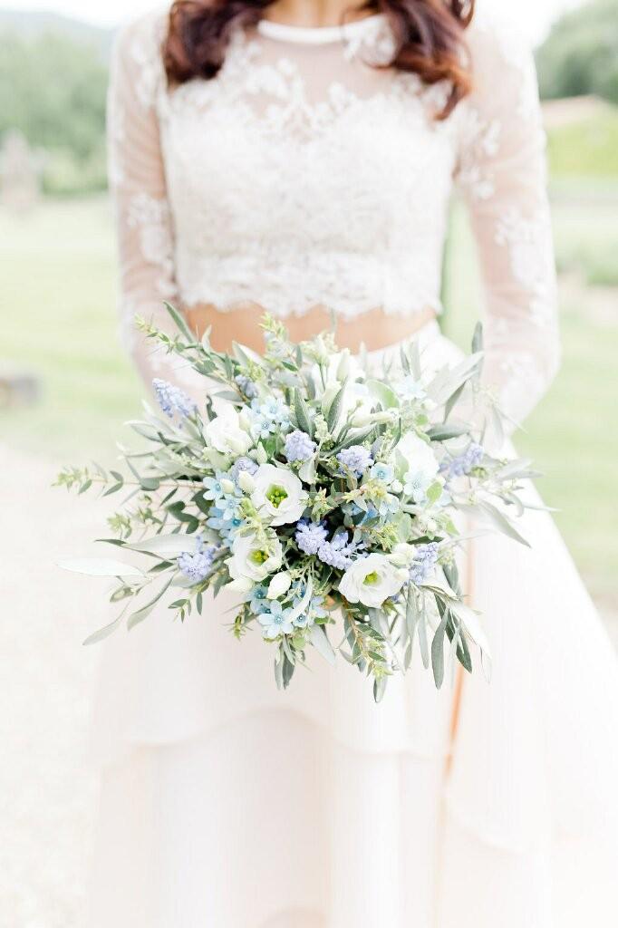 Bouquet de mariée couleurs pastel