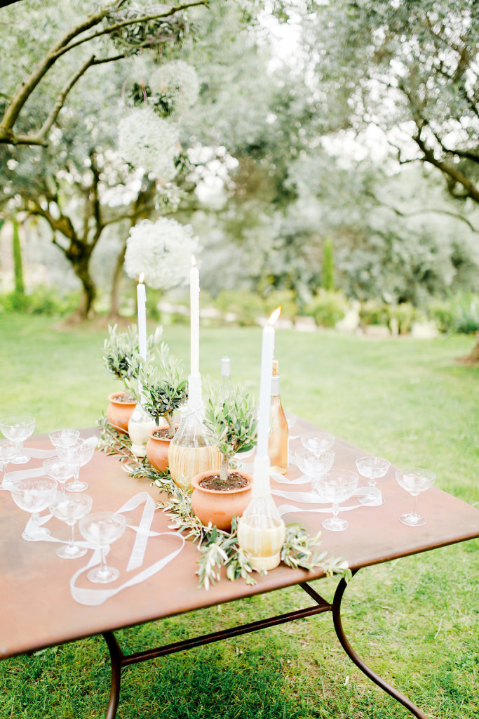 Bouteilles de Chianti pour mariage Dolce Vita