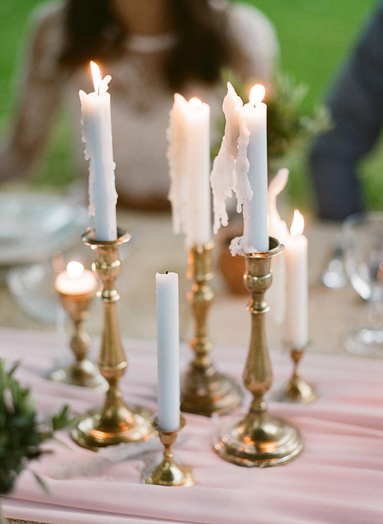Bougies déco mariage