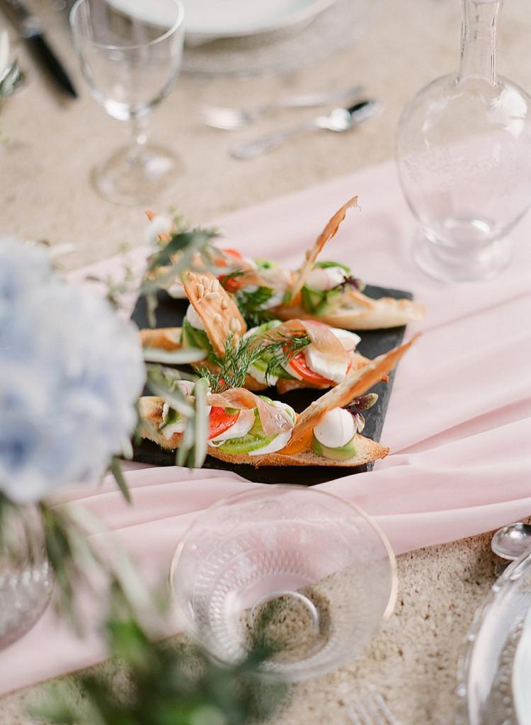 Entrée repas de mariage