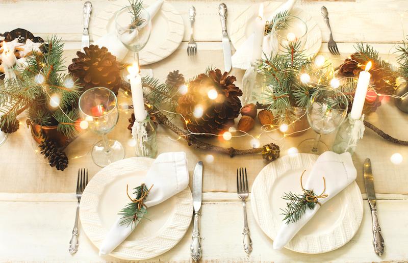 Décoration table mariage en hiver