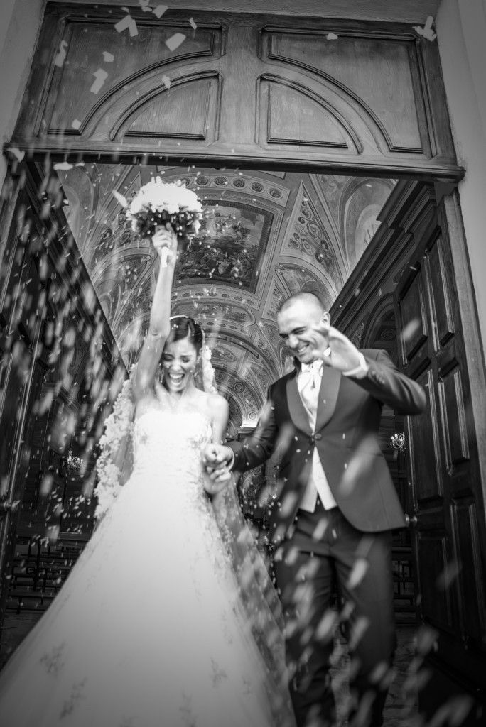 Sortie d'église mariage sarde