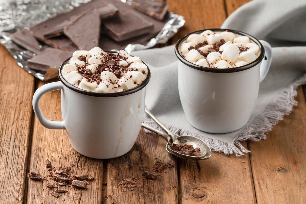 Chocolat chaud pour mariage en hiver