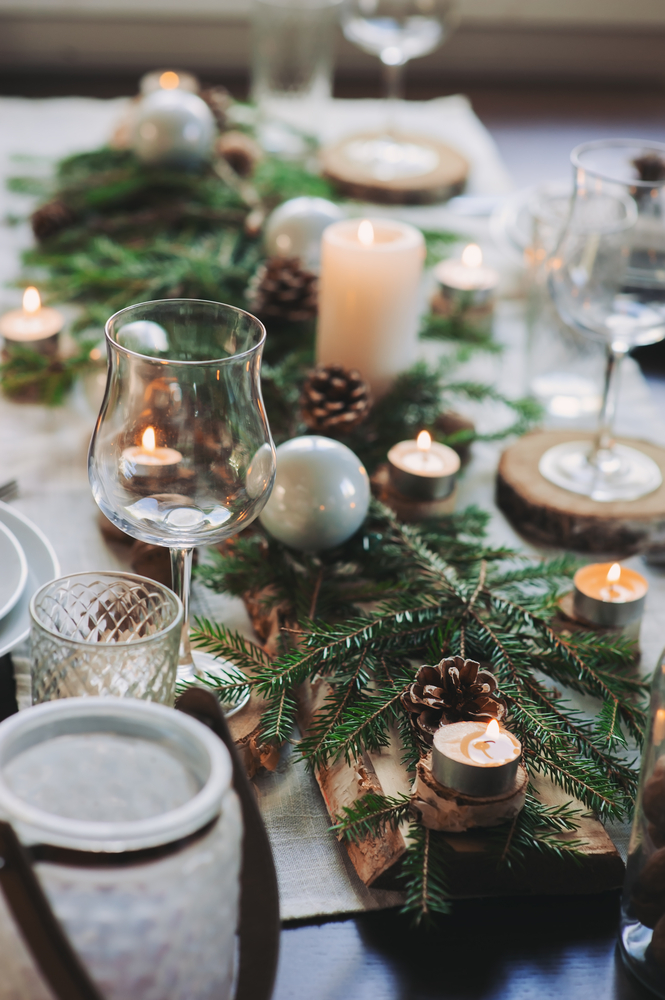 Table mariage d'hiver