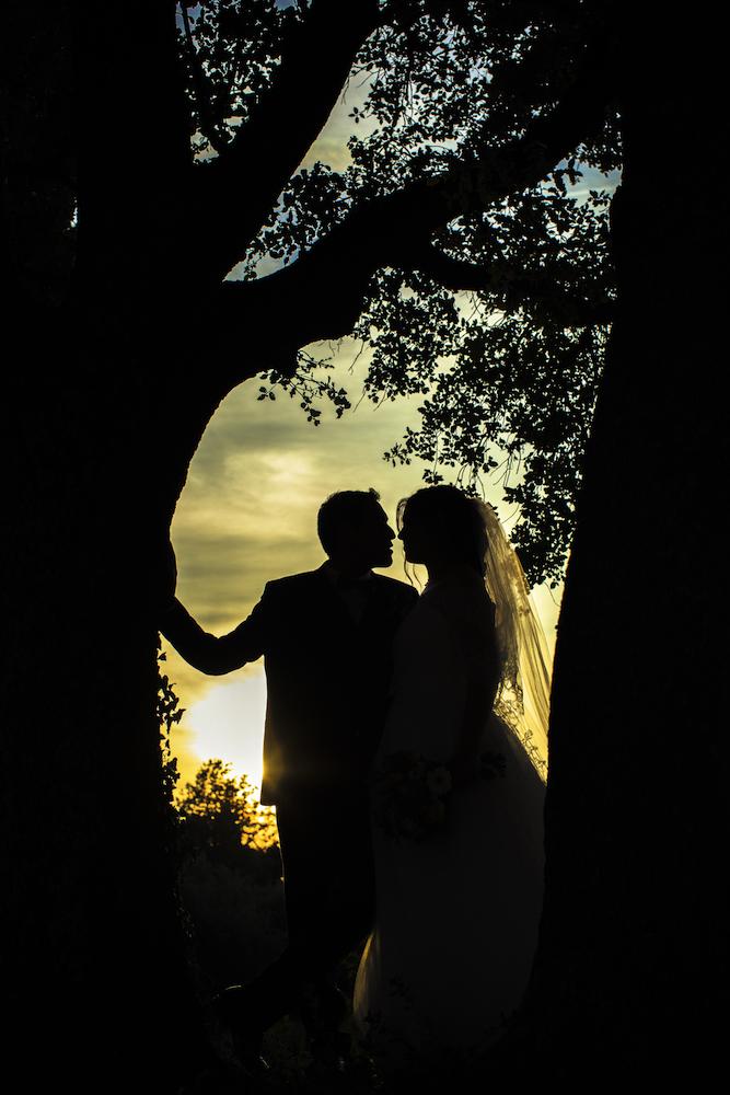 Mariage au coucher de soleil en Provence