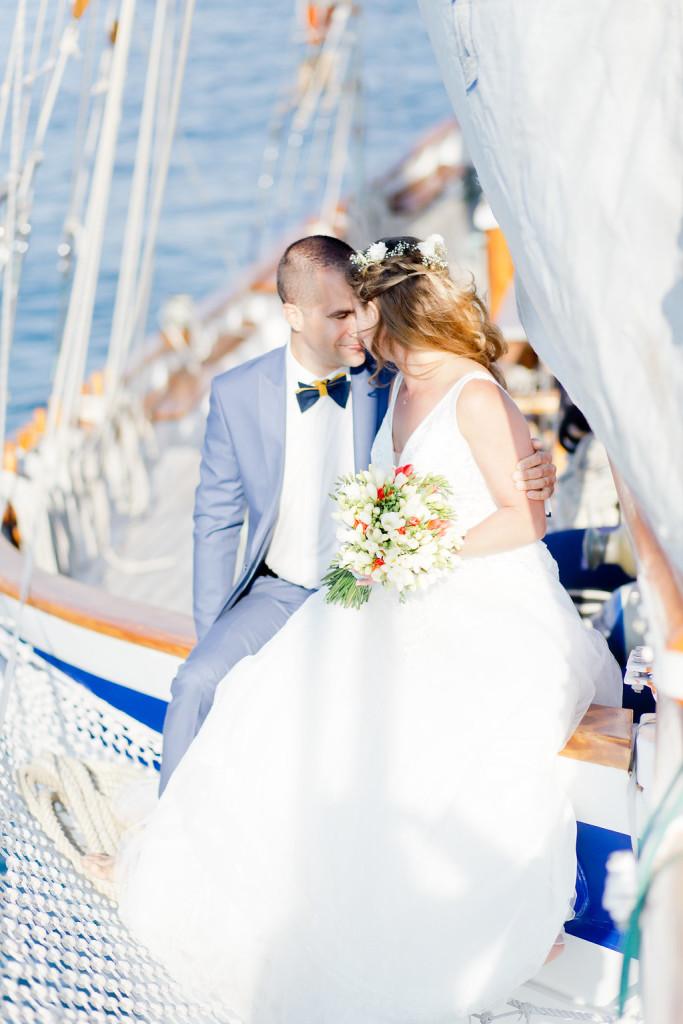 Inspiration Mariage sur un voilier