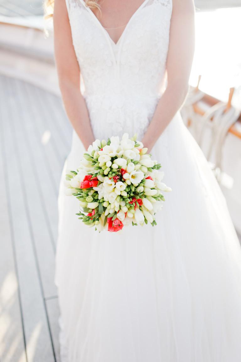 Le joli bouquet de mariée