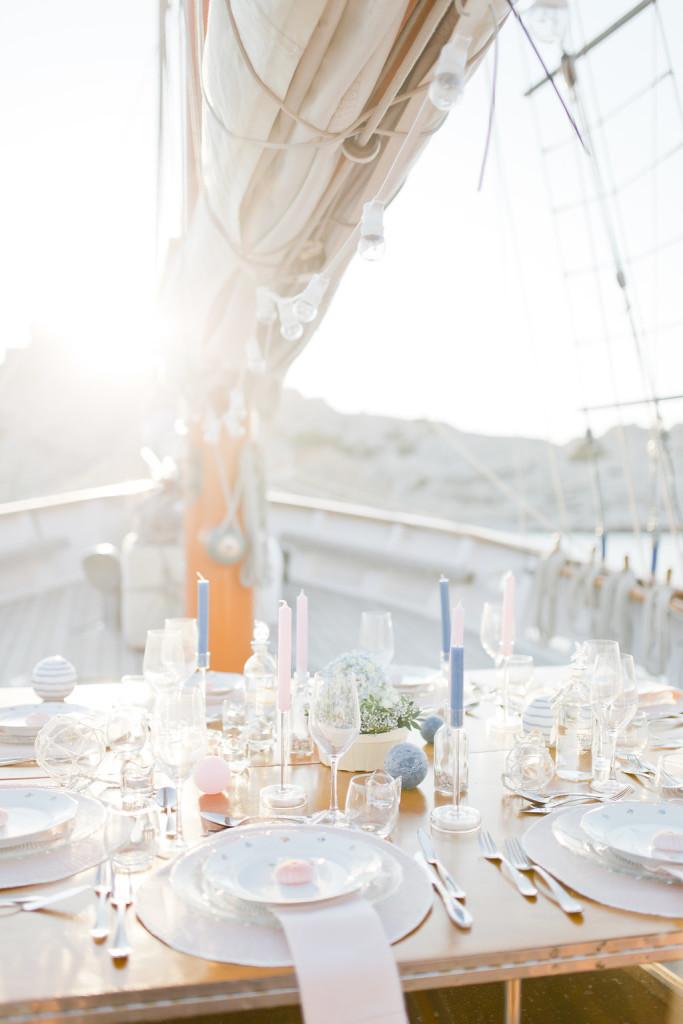 Déco de table mariage en mer