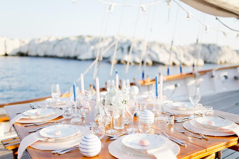 Décoration de mariage nautique