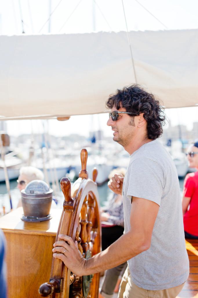 L'équipage du voilier