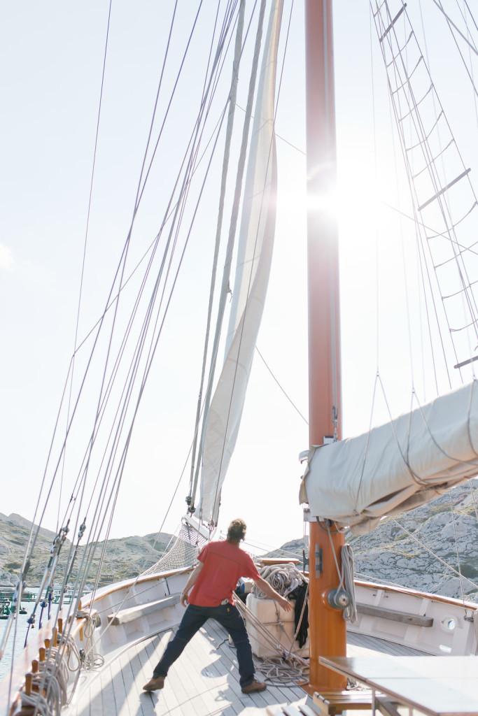 Départ pour le mariage en mer