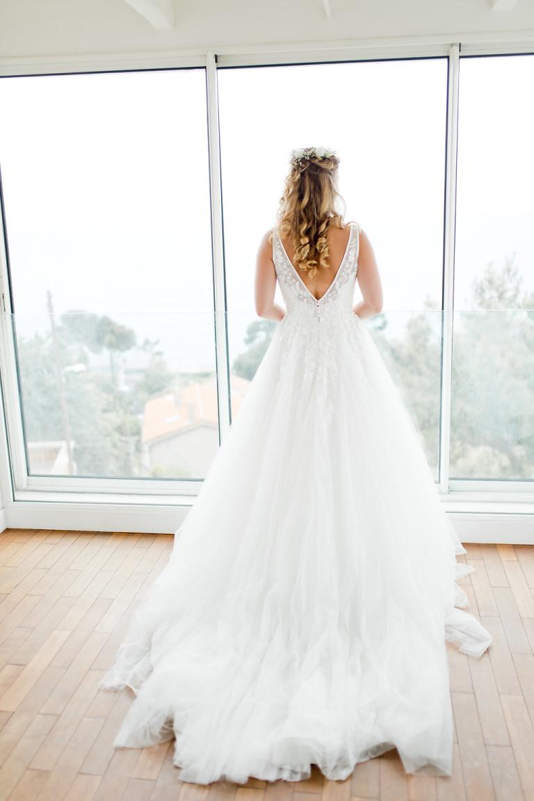 La mariée dans sa sublime robe