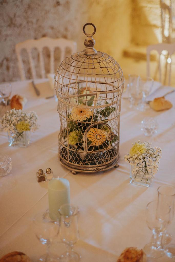 Thème de mariage cage oiseaux