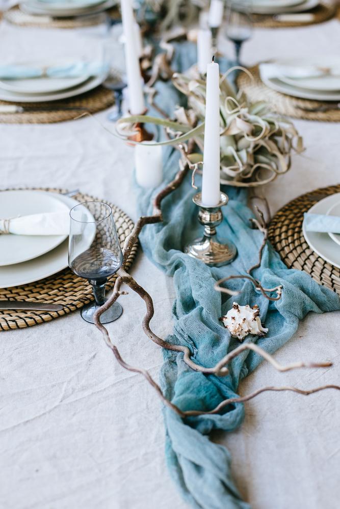 Décoration mariage bleu