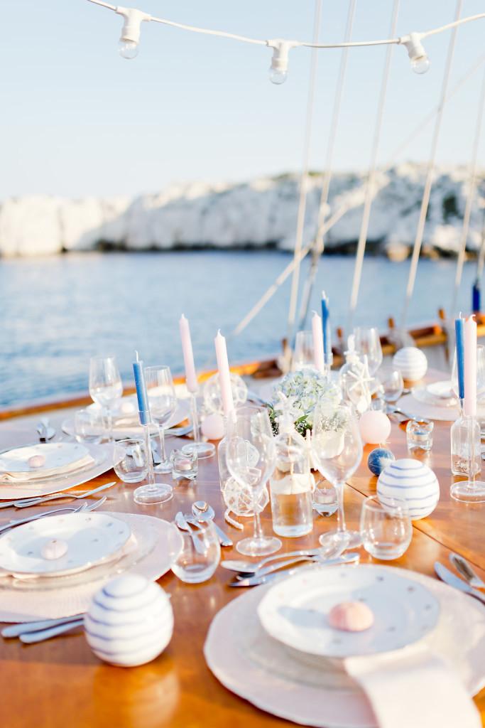 Décoration mariage mer bleu