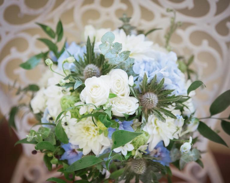 Décoration thème de mariage bleu