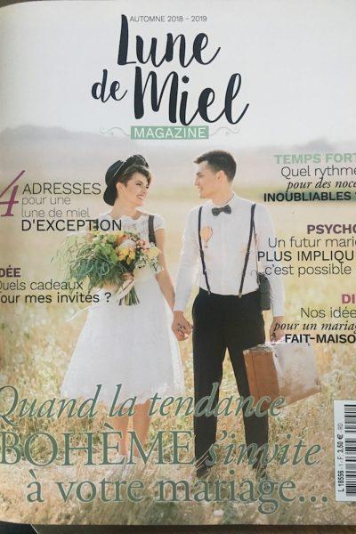 Parution dans le magazine Lune de Miel